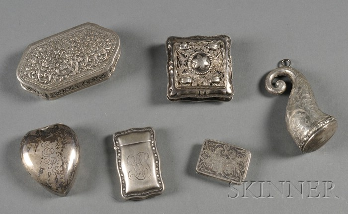 Six Silver Boxes