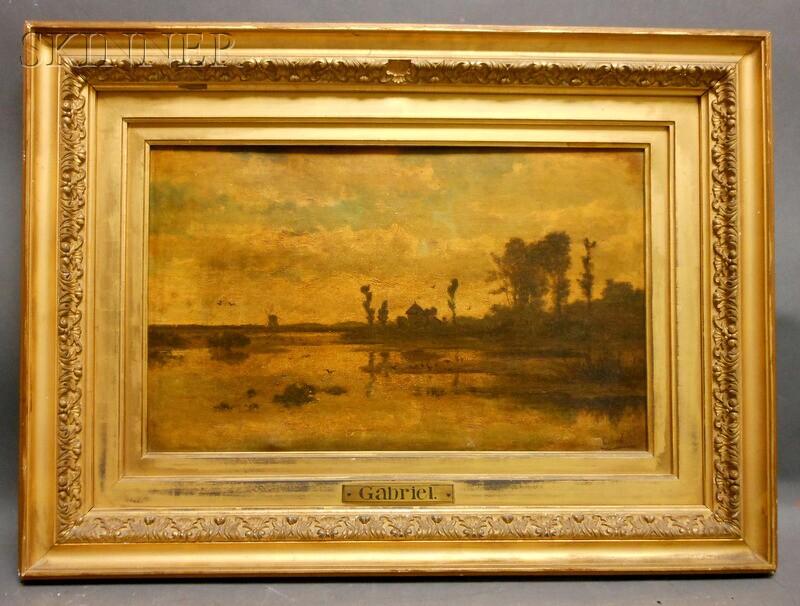 Paul Joseph Constantin Gabriel (Dutch, 1828-1903)      Landscape in Holland