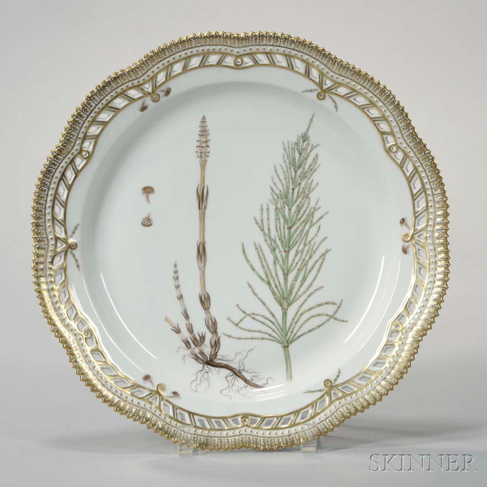 four royal copenhagen flora danica porcelain platters. Black Bedroom Furniture Sets. Home Design Ideas