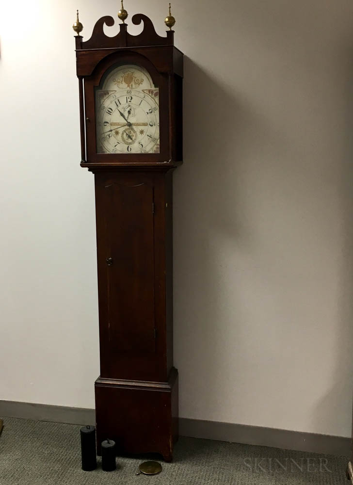 Riley Whiting Stained Tall Clock