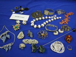 Miscellaneous Lot of Costume Jewelry, Buttons, Etc.