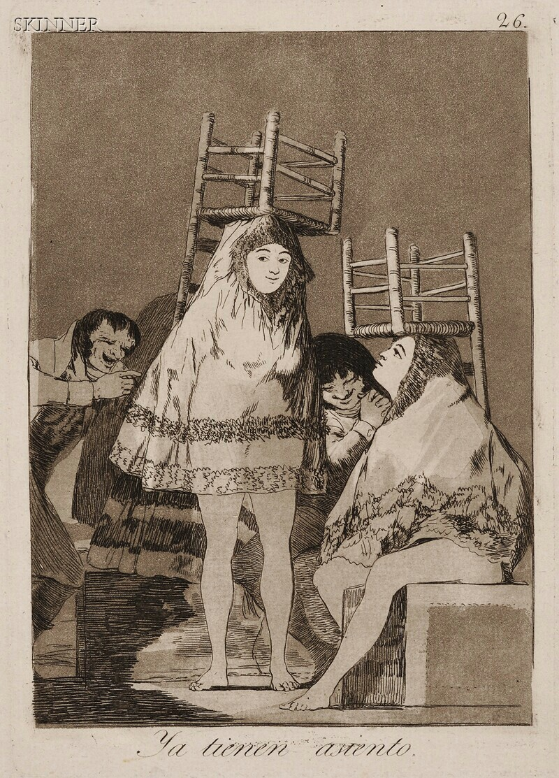 Francisco de Goya (Spanish, 1746-1828)      Ya tienen asiento