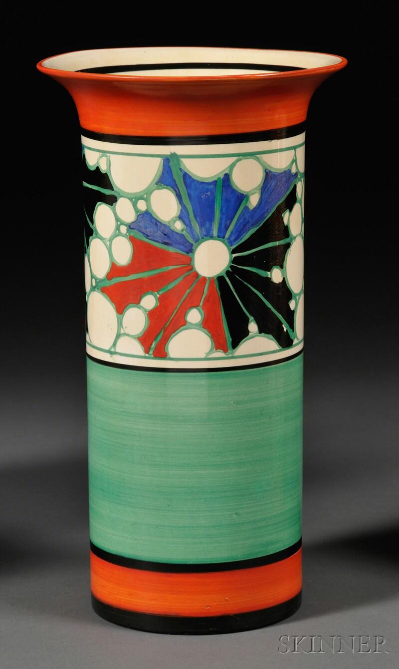 Clarice Cliff Fantasque Ware Vase