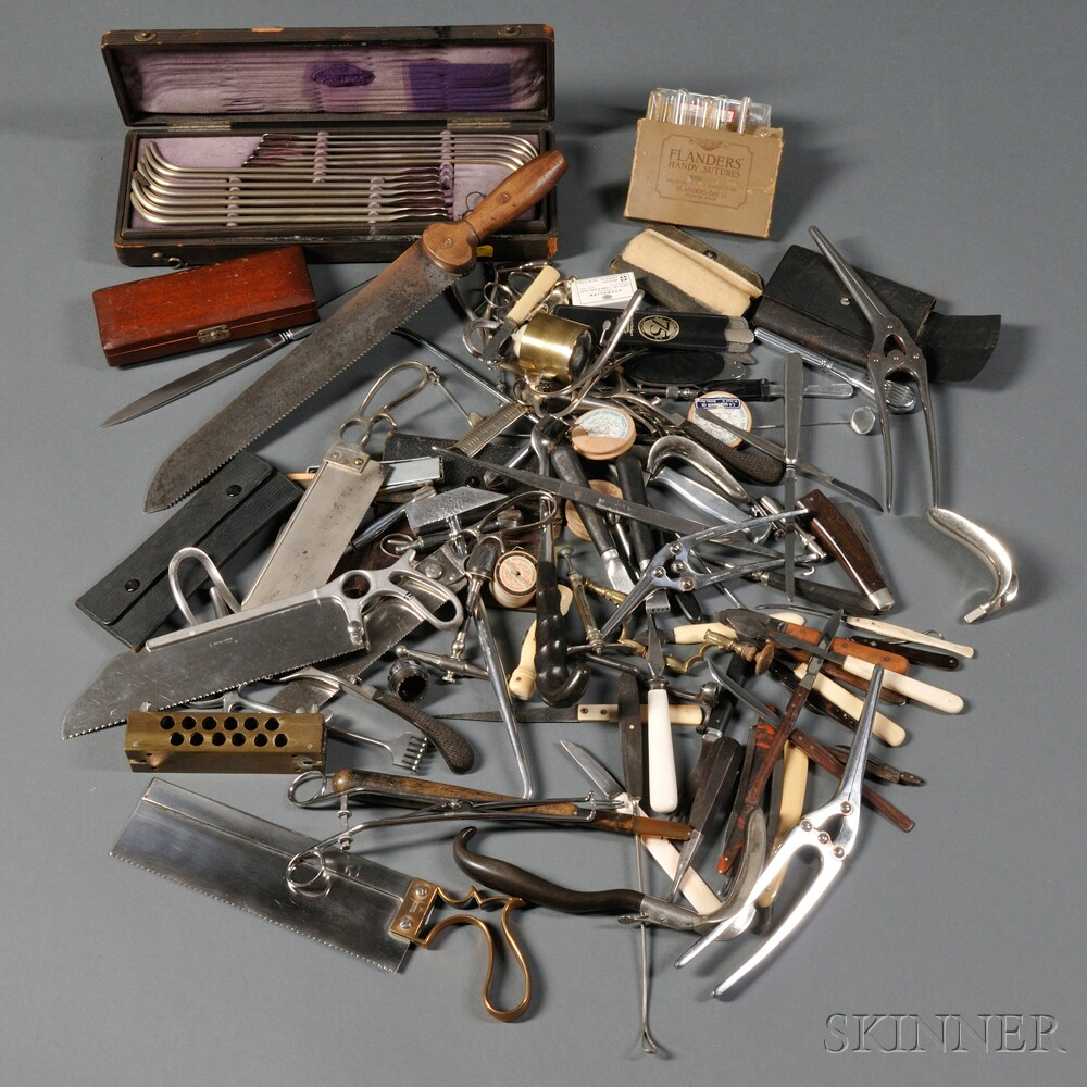 Large Group of Medical Instruments
