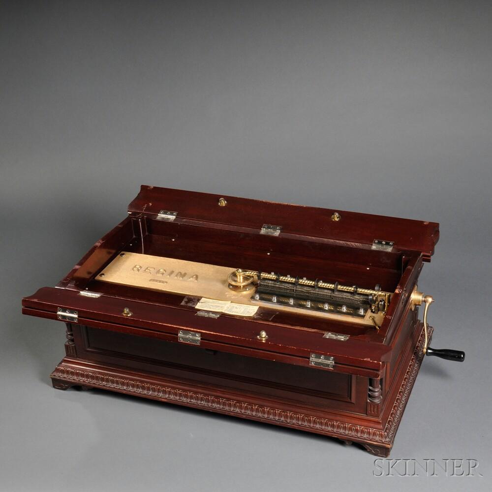 Regina 27-inch Disc Concertina Mahogany Musical Box