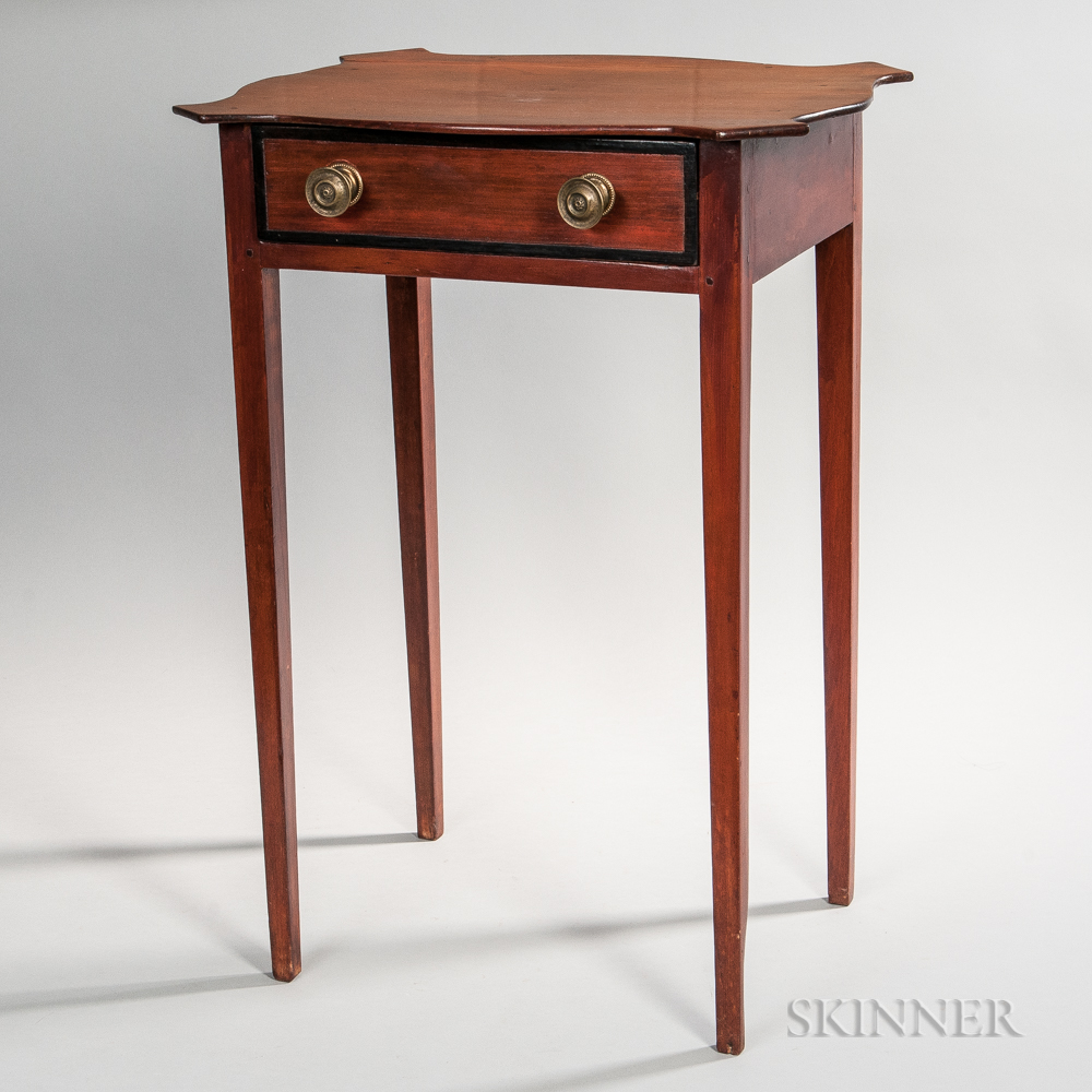 Federal Serpentine-top One-drawer Stand
