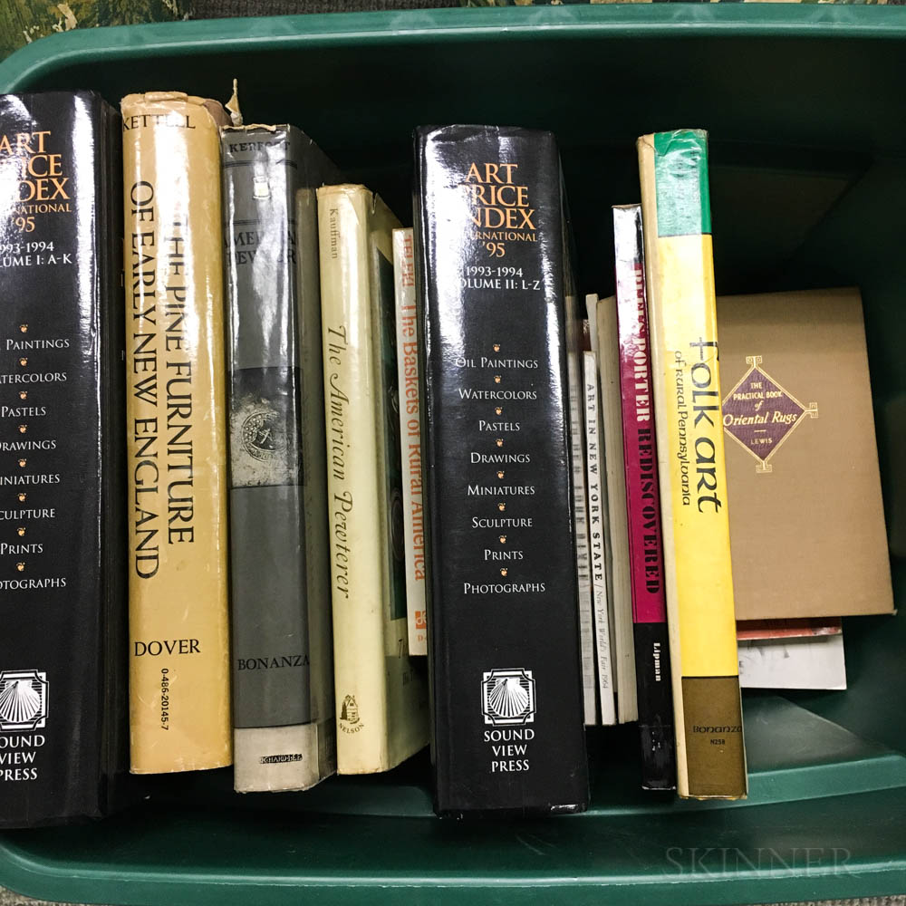 Group of Antiques Reference Books on American Decorative Arts