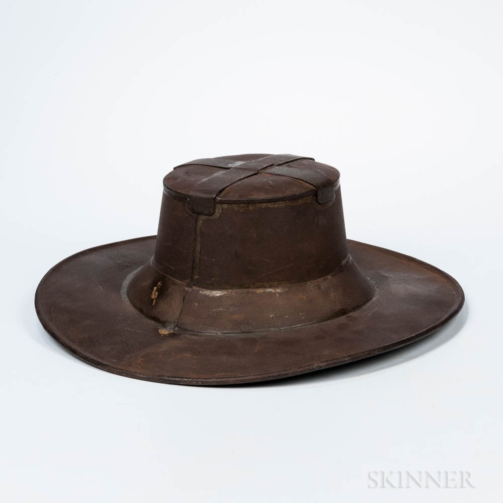 Sheet Iron Hat-form Milliner's Trade Sign