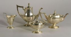 "Gorham Sterling ""Plymouth"" Four-piece Tea and Coffee Service"