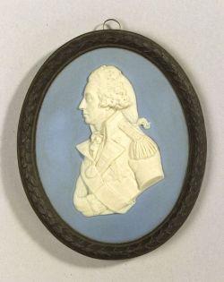 Wedgwood Three Color Jasper Portrait Medallion of Admiral Nelson