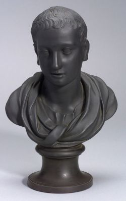 Wedgwood and Bentley Black Basalt Bust of Horace