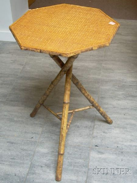 Victorian Aesthetic Bamboo Tripod-base Stand.