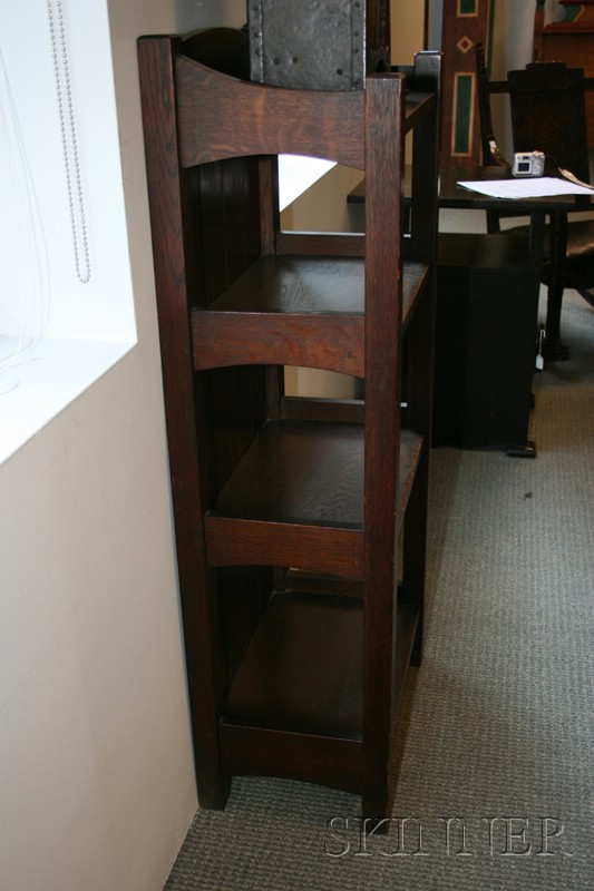 Mission Oak Four-tiered What-not Shelf
