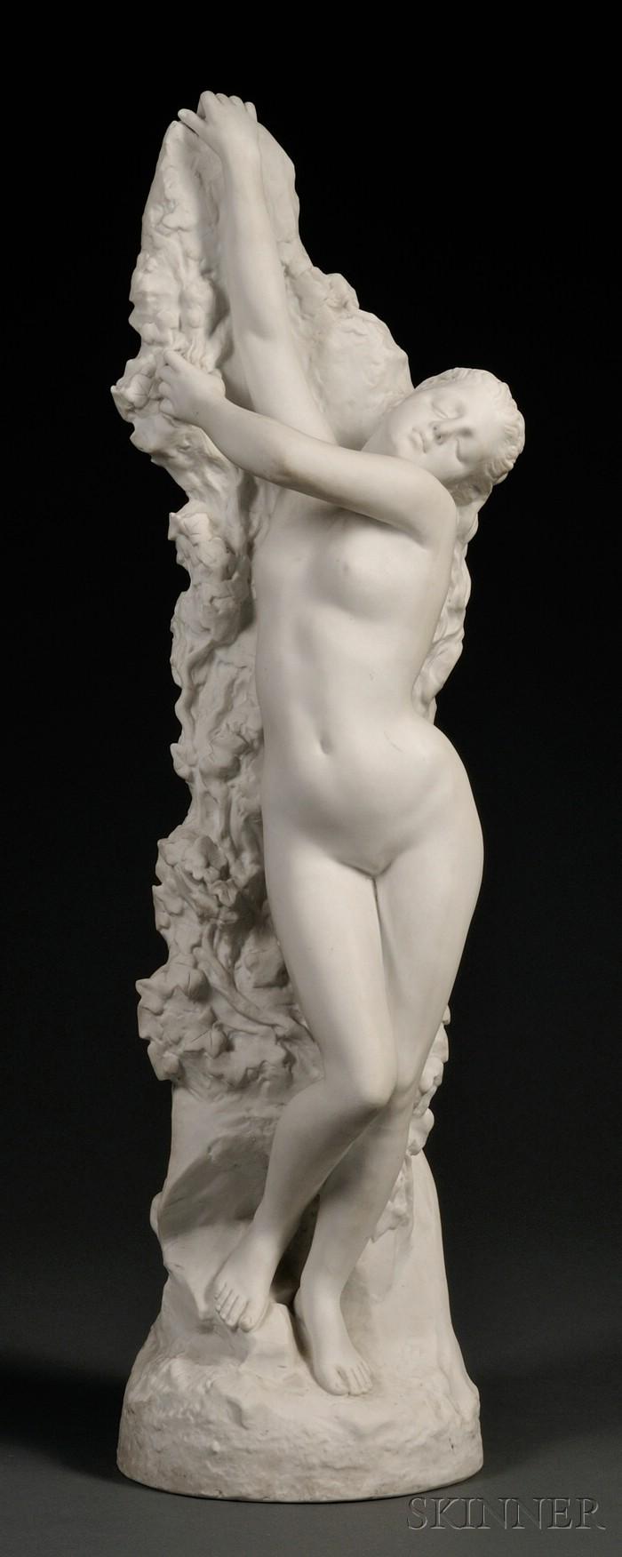 Art Nouveau Bisque Figure of a Nude Maiden