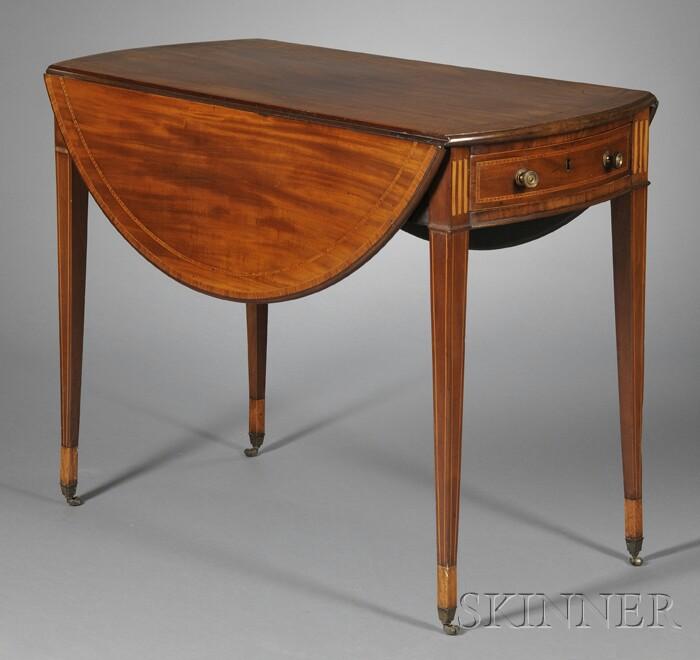 Regency Inlaid Mahogany Pembroke Table