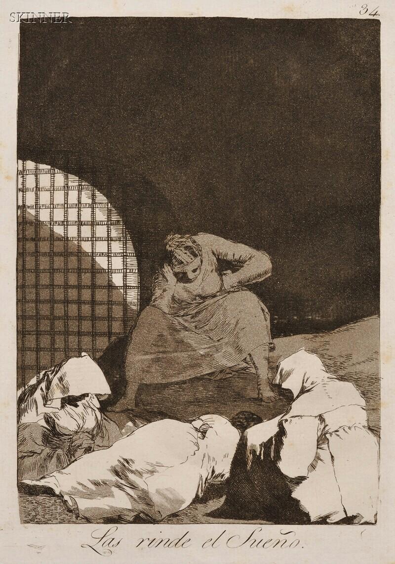 Francisco de Goya (Spanish, 1746-1828)      La rinde el Sueño