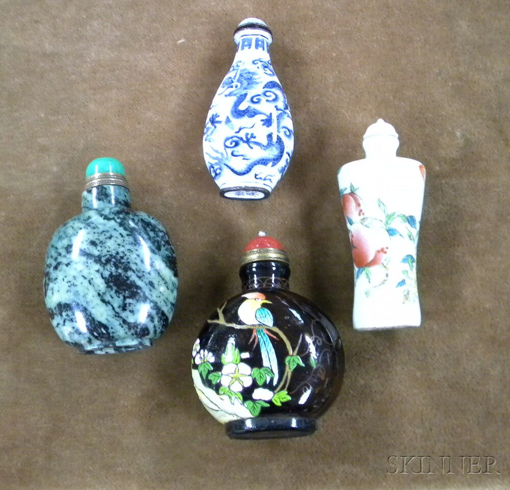 Four Assorted Asian Snuff Bottles