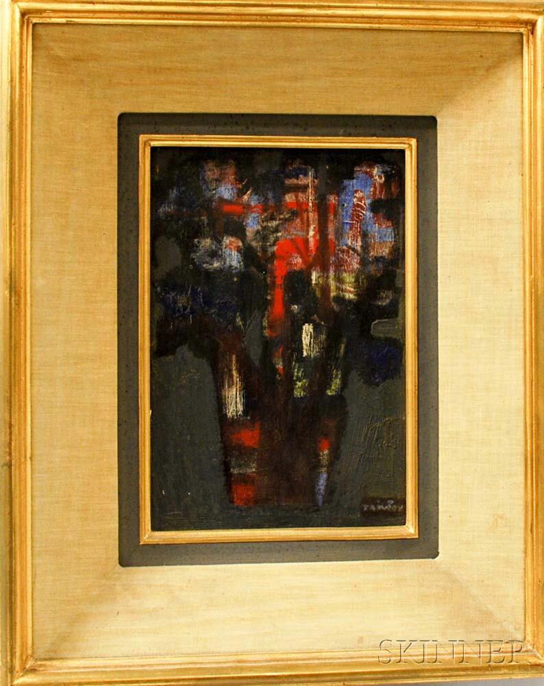 Yves Trévédy (French, 1916-1991)    Abstract Floral Still Life