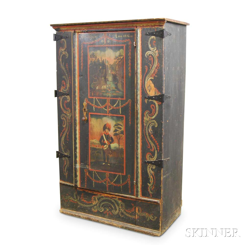 Continental Paint-decorated Cupboard
