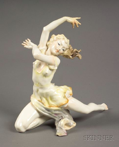 Hutschenreuther Porcelain Figure of a Dancer