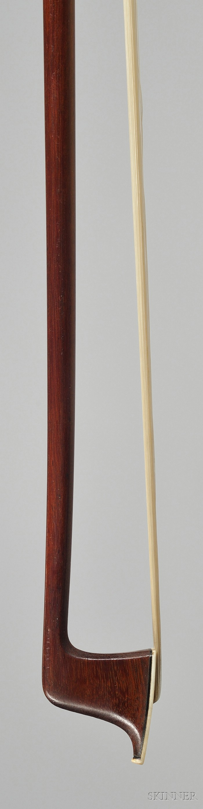 French Silver Mounted Violin Bow, Eugene Sartory, c. 1910
