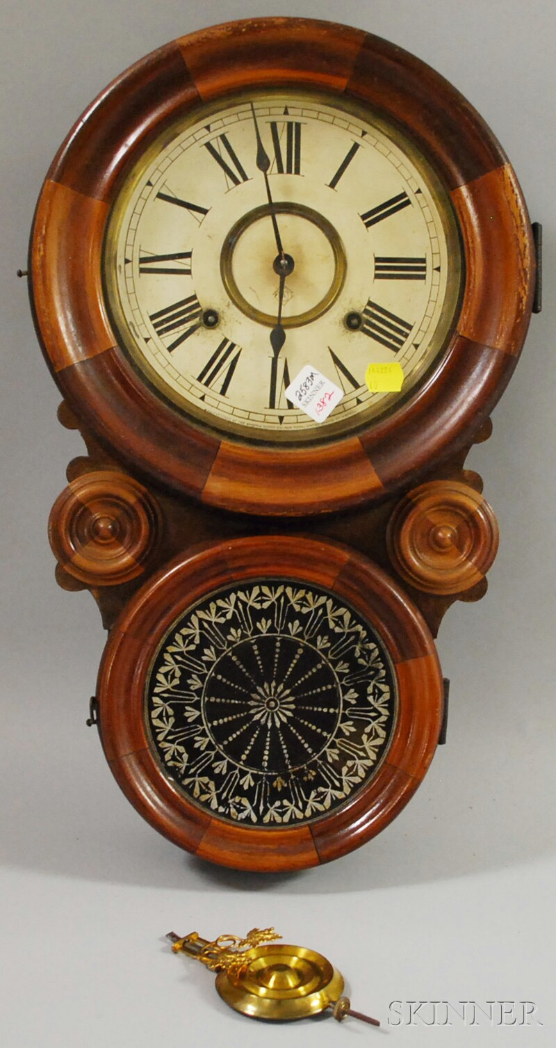 Ansonia Quot Figure Eight Quot Wall Clock Sale Number 2583m Lot