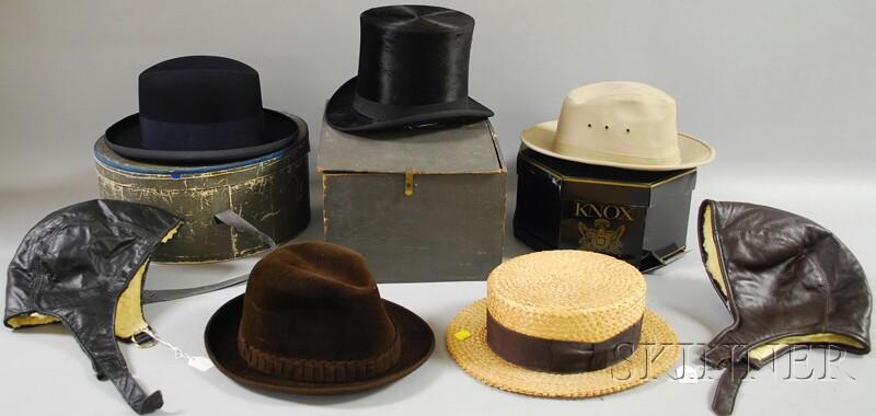 Seven Assorted Men's Hats