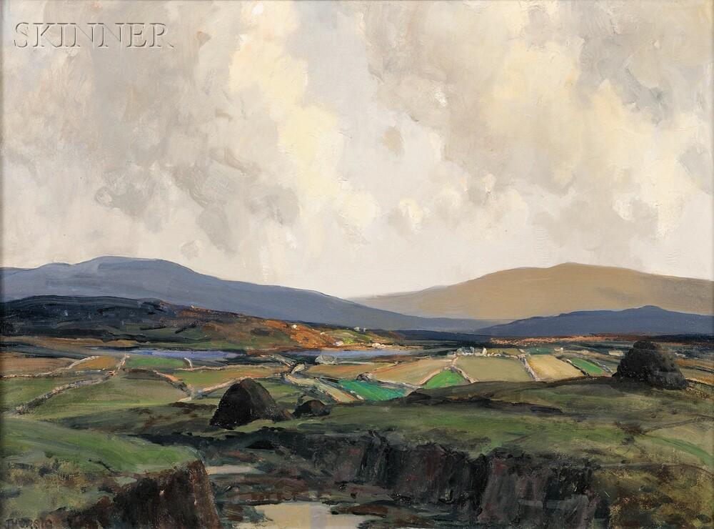 James Humbert Craig, R.H.A, R.U.A. (Irish, 1877-1944)      Gholla Bristha in the Rosses, Donegal