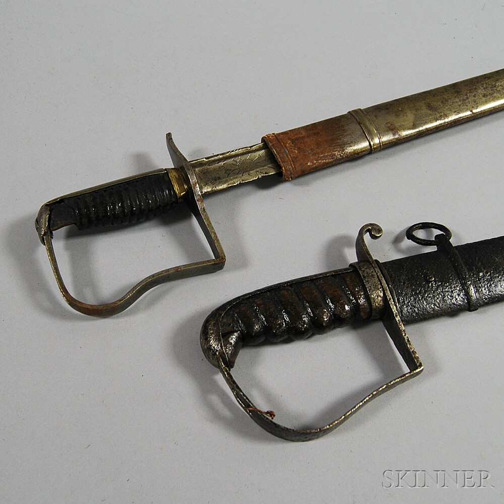Two Cavalry Sabers with Scabbards