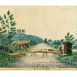 American School, 19th Century  View on the Mohawk.