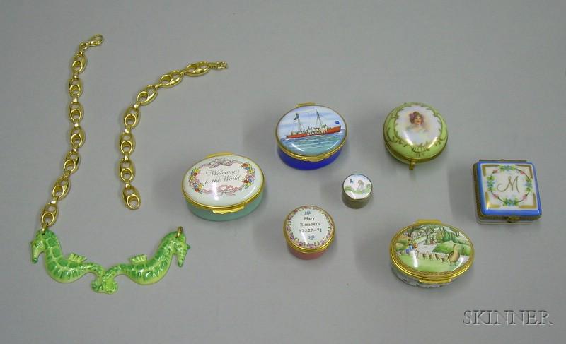 Group of Souvenir Enamel Boxes
