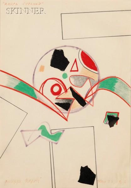 Giuseppe Napoli (Italian/American, b. 1929)      Lot of Four Compositions of Morton Feldman, Varese, and Aaron Copland