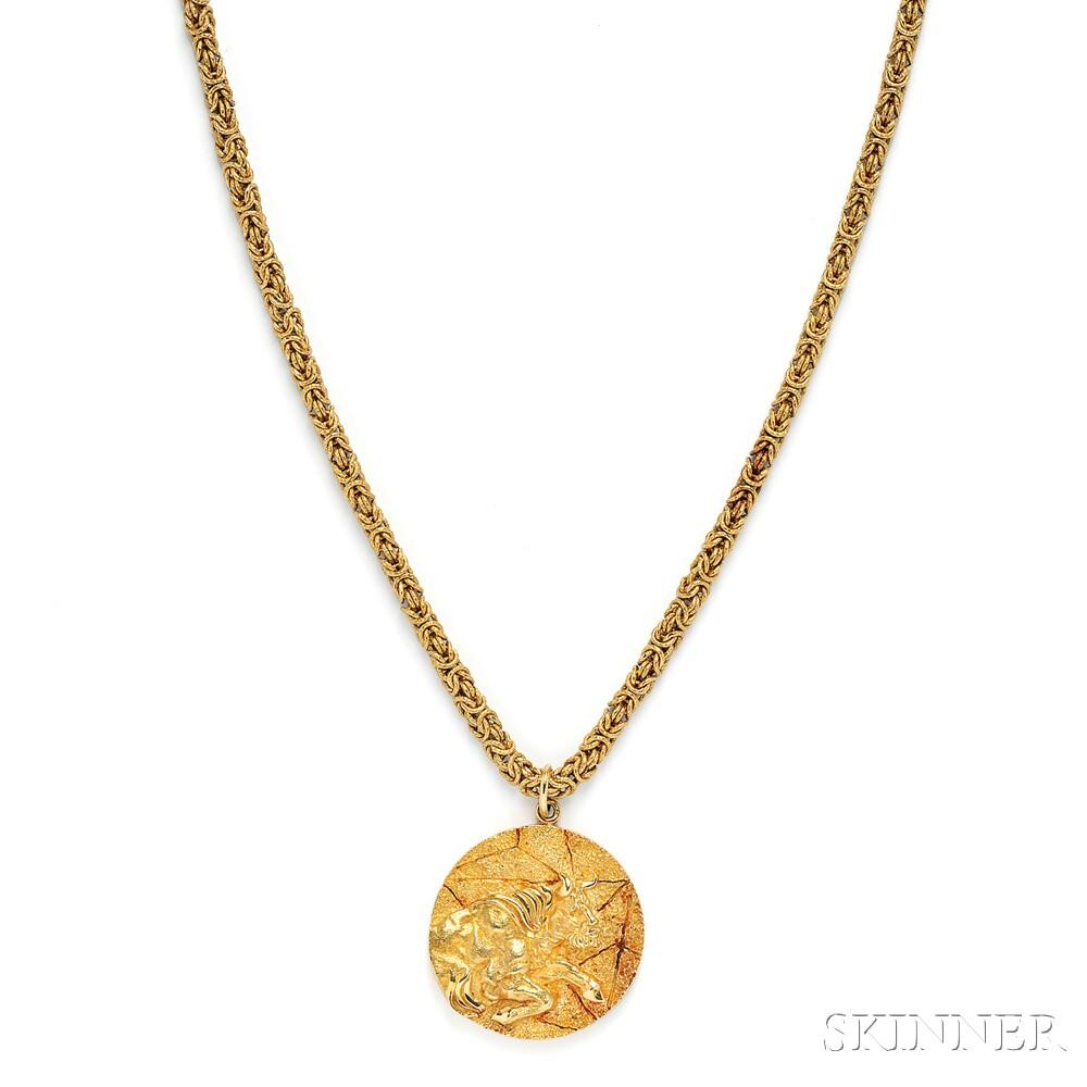 18kt Gold Taurus Pendant, Tiffany & Co.