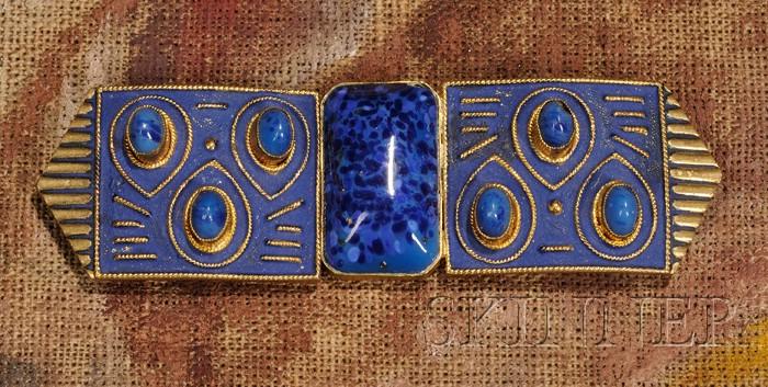 Egyptian Revival Belt Buckle