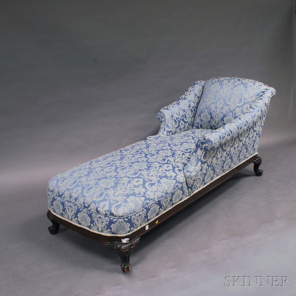 Victorian carved and stained chaise lounge sale number for Carved chaise lounge