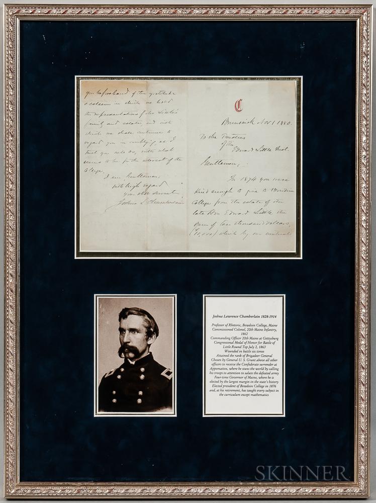Joshua Chamberlain-signed Document