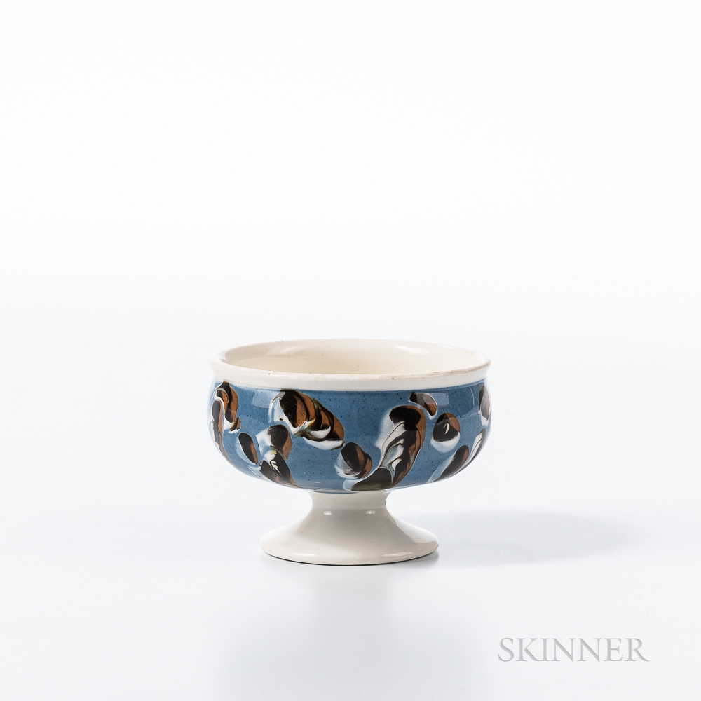 Cable and Slip-decorated Pearlware Salt