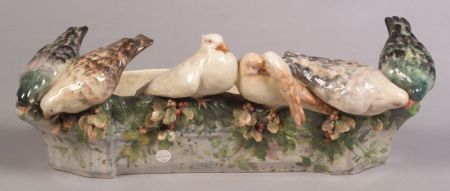 Tin Glazed Earthenware Pigeon Jardiniere