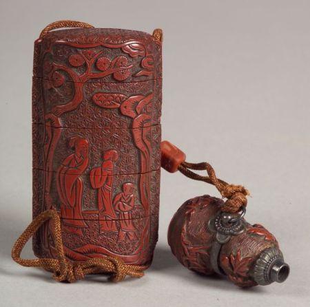 Cinnabar Seal Case and Toggle