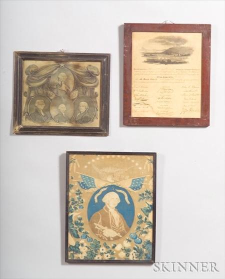 Three Framed American Historical Items