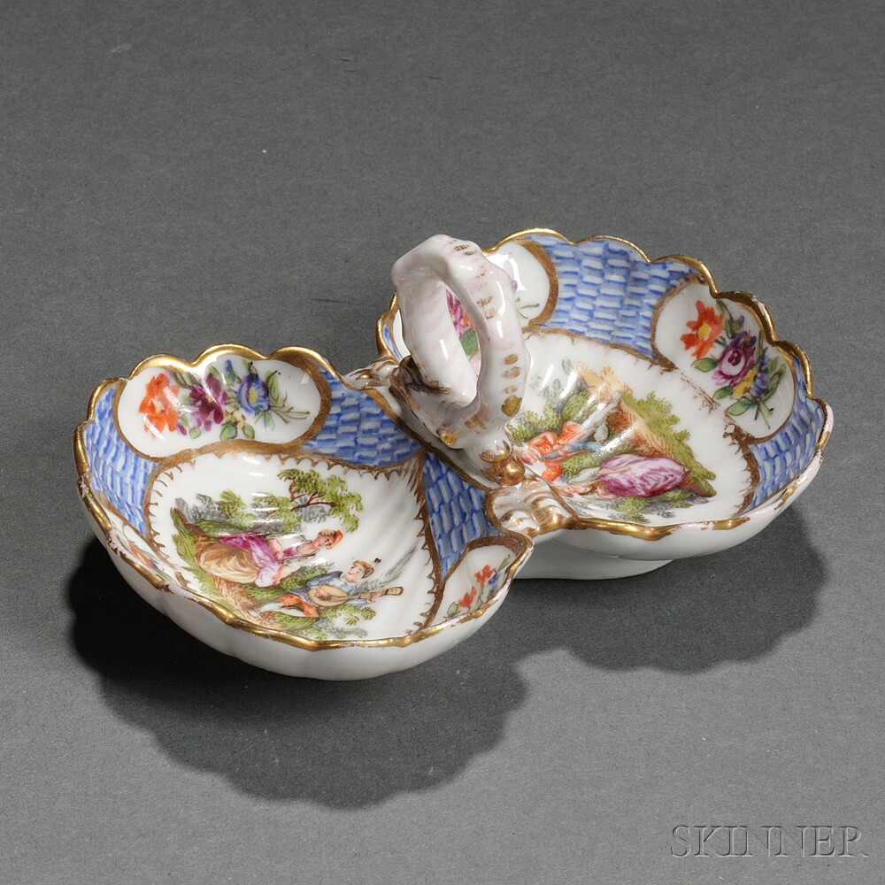Meissen Porcelain Double Salt Cellar : double salt cellar  - Aeropaca.Org