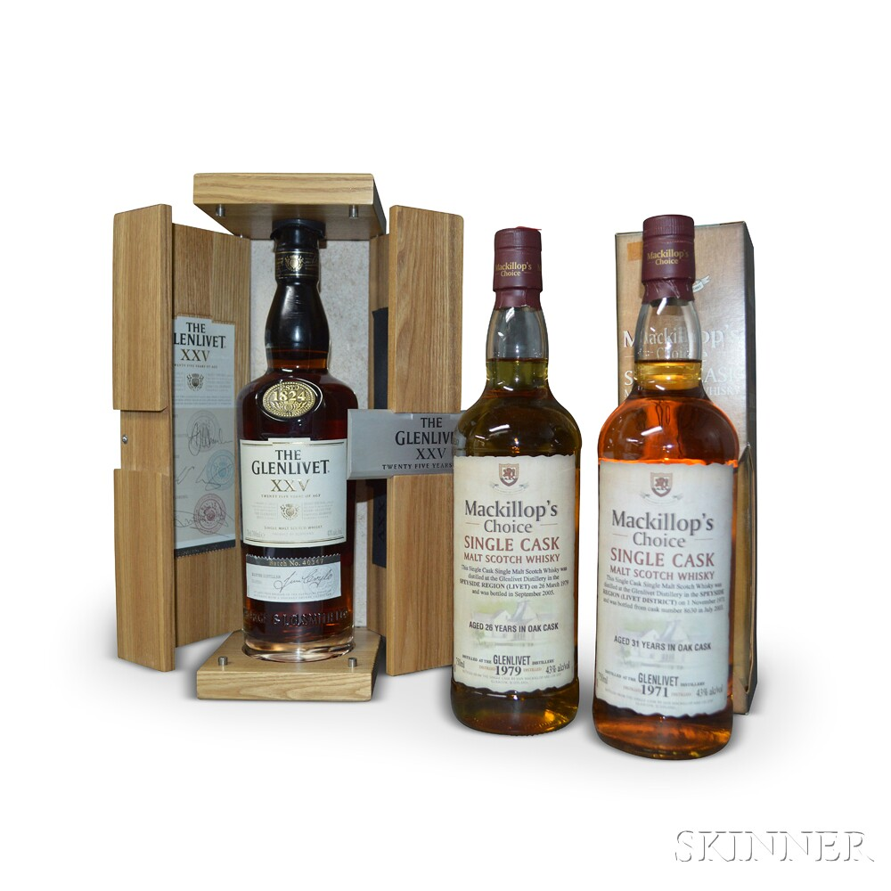 Mixed Glenlivet, 1 700ml bottle2 750ml bottles
