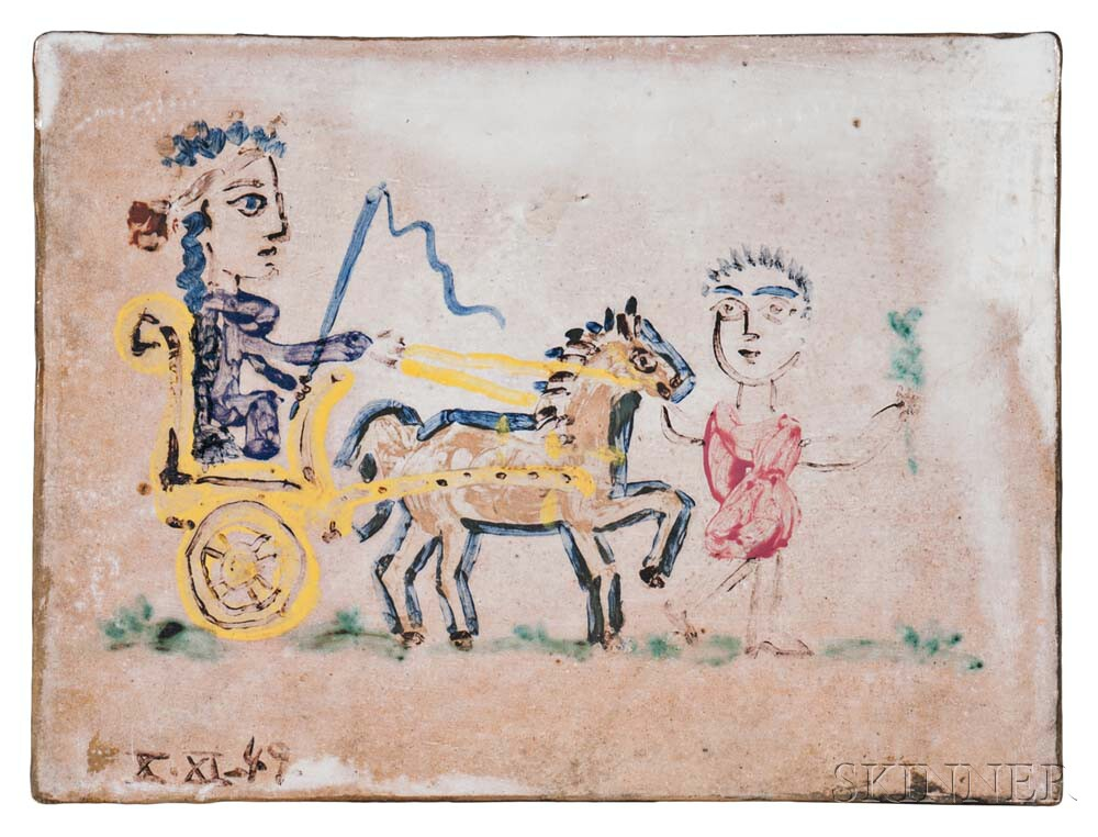 Pablo Picasso (Spanish, 1881-1973)      Femme au char triomphal