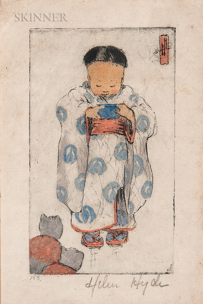 Helen Hyde (American, 1868-1919)      Portrait of a Small Japanese Child