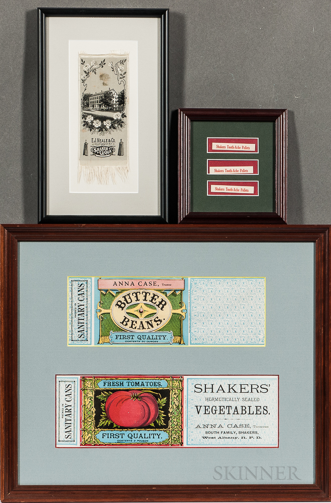 Three Frames with Shaker Labels and Ribbon