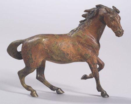 Austrian Cold Painted Bronze Horse Figure