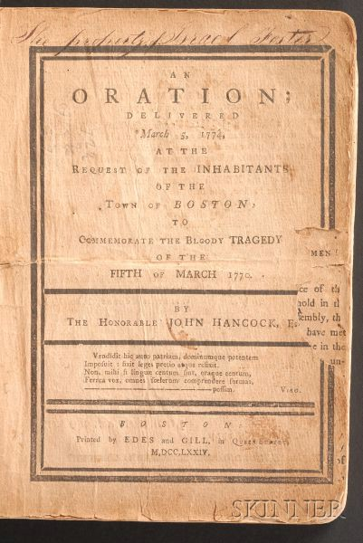 (Boston Massacre, American Revolution), Bound Group of Three Pamphlets
