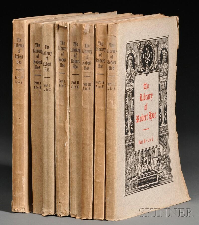 (Library Sale Catalog), Hoe, Robert
