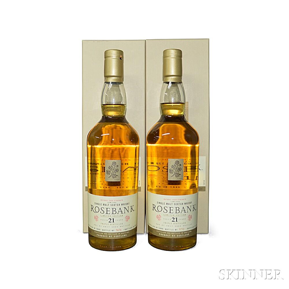 Rosebank 21 Years Old 1990, 2 750ml bottles (oc)