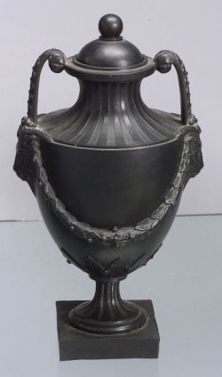 Wedgwood and Bentley Black Basalt Vase and Cover